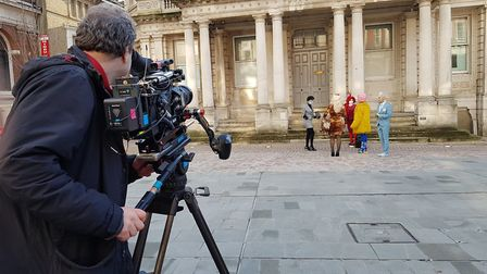 Filming of a new Channel 4 show in the Cornhill, Ipswich. Picture: RACHEL EDGE