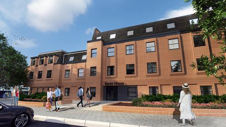 Saxon House, 1 Cromwell Square, Ipswich which is being converted into 34 apartment homes by develope