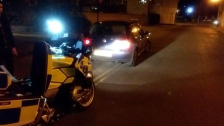 Police stopped the vehicle in Ipswich on Sunday night Picture: NSRAPT