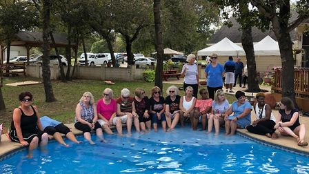 Members of the Ipswich Ladies group at Carmen and Ken Casey's home in La Vernia, Texas. Picture: IPS