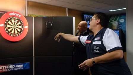Darts legend Keith Deller will be at Trinity Park in February Picture: LUCY TAYLOR