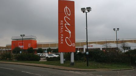 The Euro Retail Park in east Ipswich. Picture: PAUL GEATER