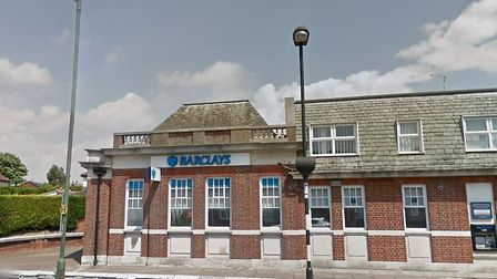 The Barclays branch on Woodbridge road which is currently closed due to a suspected gas problem Pict