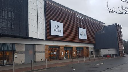 The new terrace is nearing completion outside Cardinal Park Picture: ARCHANT