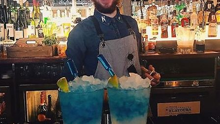 Bar staff at Ipswich Revolution are creating alcohol free cocktails for Dry January. Picture: REVOLU