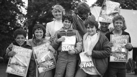 Posing with goodies from the Fun Day in Ipswich 1983 Picture: ARCHANT