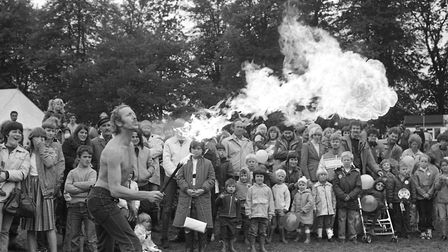 A fire breathing display impressing a big crowd Picture: ARCHANT