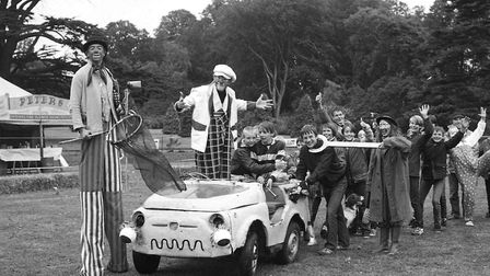 Enjoying a chance to sit in the clown car Picture: ARCHANT