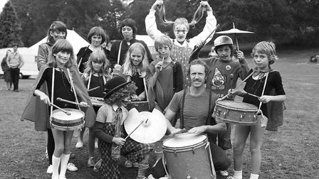Children supplying some of the music for the day Picture: ARCHANT