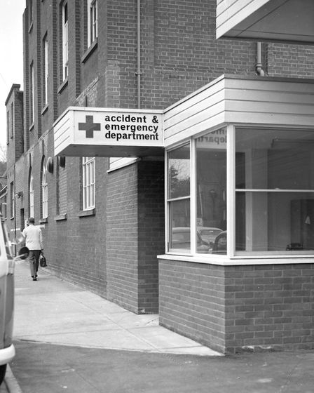 A new accident and emergency department opened at Anglesea Road, Ipswich hospital, in 1967. This was
