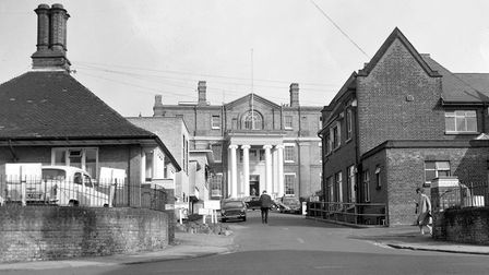 This picture, taken in the 1960s, shows Ipswich Hospital when it was at Anglesea Road. It features