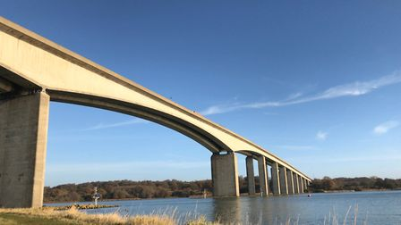 An aerodynamic study of the Orwell Bridge is taking place Picture: ARCHANT