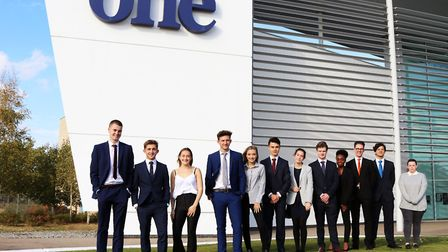 One Sixth Form College in partneship with the Institute of Directors. Students, staff and IoD repre