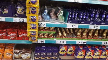 Easter eggs are on sale in Tesco in Bury St Edmunds Picture: Amanda McKenna