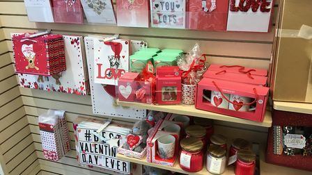 Clinton's Cards in Ipswich is ready for Valentine's Day Picture: SUZANNE DAY
