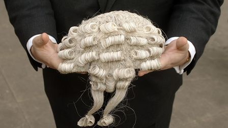 A barrister's wig was also found in Ipswich Picture: SIMON FINLAY/ARCHANT