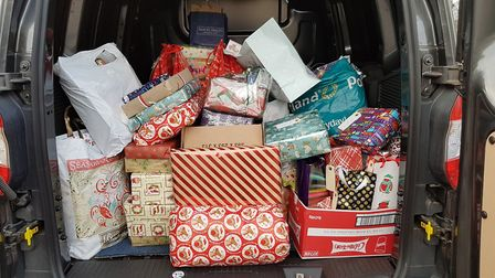 The gifts will be delivered to those who use the meals on wheels service on Christmas Day. Pictu