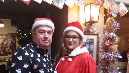 Christmas at The Plough in Ipswich, Michelle and Paul Bird.