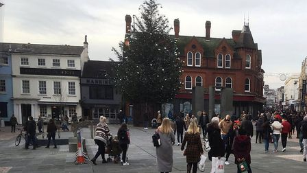 The Cornhill Christmas Tree will be coming down after Twelfth Night. Picture: PAUL GEATER