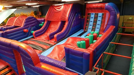 Part of the Play2Day inflatable course. Picture: PLAY2DAY