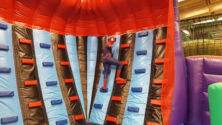 Even Spiderman swings by occasionally at Play2 Day Picture: PLAY2DAY