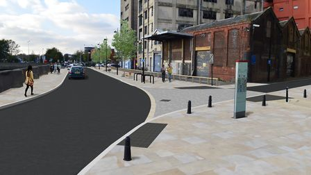 Work on the project to transform St Peter's Wharf began on January 7 Picture: SUFFOLK HIGHWAYS