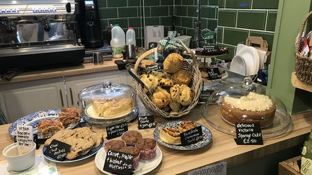 A wide selection of cakes and bakes available at The Greenhouse Cafe