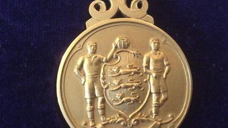 The medal that Ipswich Town's Mick Lambert was given for winning the FA Cup final in 1978 Picture: M