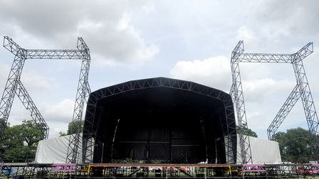 The stage is set in Chantry Park at previous concert Picture: SU ANDERSON