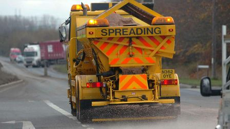 Suffolk Highways will be gritting the roads in preparation for snow and ice this evening. Picture: S