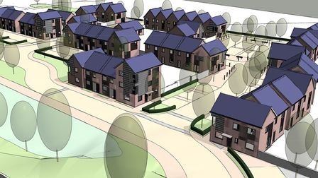 An architect's impression of the new homes planned for the Took's site off Old Norwich Road in Ipswi