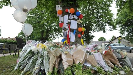 Tributes left in memory of Tavis Spencer-Aitkens Picture: SARAH LUCY BROWN