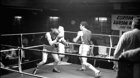 Opponent puts his gloves up in defence at the current dominating opponent Picture: ARCHANT