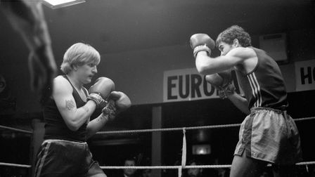Boxers stare each other down as they are fully engrossed in the fight Picture: ARCHANT