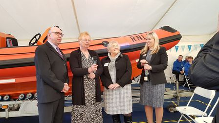 Fred. Olsen Cruise Lines naming ceremony of 'The Pride of Fred. Olsen' at Ipswich head office, Racha