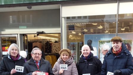 Campaigners collecting signatures outside Felixstowe M&S Picture: FELIXSTOWE LABOUR PARTY