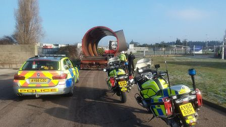 An abnormal load will be hitting the A14 this morning Picture: NORFOLK & SUFFOLK ROADS AND ARMED POL