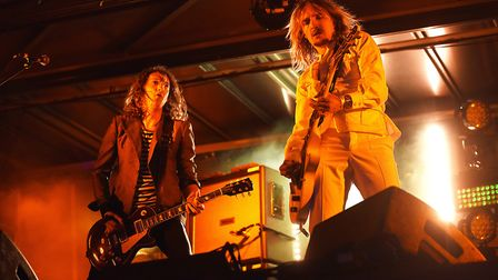 The Darkness will be joining Ed Sheeran in Chantry Park Ipswich this August. Picture: IAN BURT
