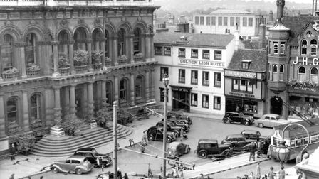 In the 1950s and 1960s you could park in front of the Town Hall. Times change! Picture: DAVE KINDRED