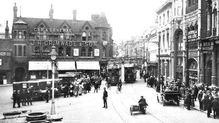 Nearly a century ago - Ipswich Cornhill in 1921. But many of the buildings are still recogniseable t