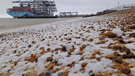 Snow will turn to ice in Suffolk's cold snap on January 29 Picture: STEPHEN SQUIRRELL