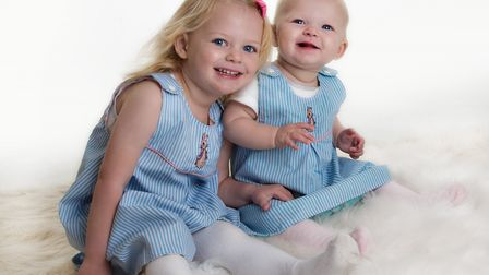 Nancy Carpenter aged three (left), and her sister Dorothey, Picture: RUTH LEACH PHOTOGRAPHY
