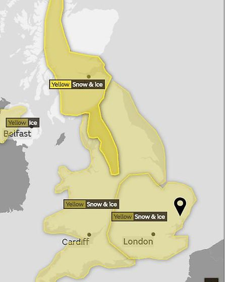 Yellow weather warnings have been issued for most of the country. Picture: MET OFFICE