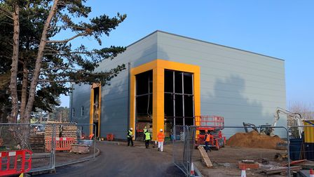 Clip'n Climb in Ipswich being built. Picture: Mark Patterson