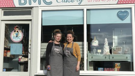 Rachel Louise Halls (owner) and Catrina Young at BMC Cakery Ipswich Picture: Ella Wilkinson