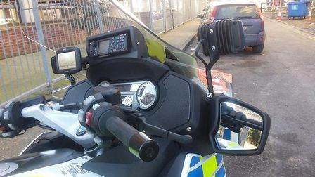 The car was stopped by police in Ipswich because it had a dirty number plate. Picture: NORFOLK AND S