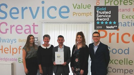 Independent Ipswich insurance brokers Ryan's has won a Feefo Gold Service award, for the fourth year