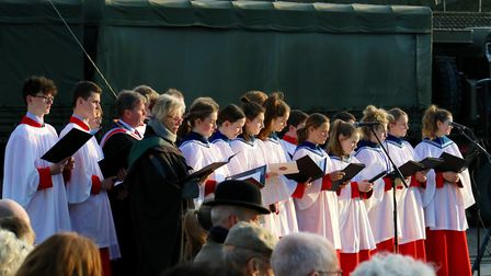 The chamber choir from the Royal Hospital School perform in Kent Picture: ROYAL HOSPITAL SCHOOL