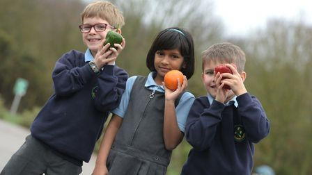Noah , Sana and Fynn enjoyed their healthy eating workshop Picture: SARAH LUCY BROWN