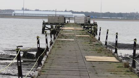 The pier's existing buildings now have no roofs but the Shotley tourist attraction is now free of as